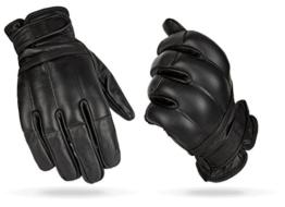 1 Paar Security Quarzsandhandschuhe Defender Einsatzhandschuhe aus echtem Leder Schwarz / Kevlar L -