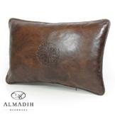 ALMADIH Lederkissen XL 50x35 cm braun vintage aus echtem Lammleder - Leder Kissen Sofakissen Sitzkissen orientalische Zierkissen - minadesign.de -