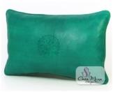 ALMADIH Lederkissen XL 50x35 cm grün - handgefertigt Lammnappa Leder Kissen Sofakissen Sitzkissen orientalische Zierkissen - minadesign.de -