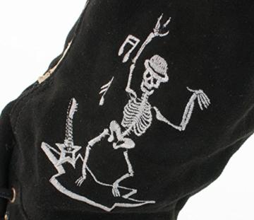Almwerk Herren Trachten Lederhose Rockstar schwarz in kurz oder als Kniebund, Lederhosen Größe:50 kurz -