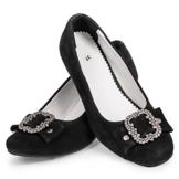 Damen Trachtenschuhe schwarz mit Absatz Gr. 37 -