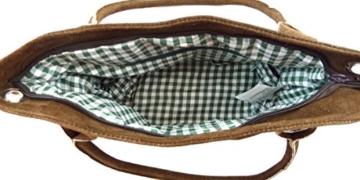 Dunkelbraune Trachtentasche Dirndltasche echtes Leder mit oliver Trachtenstickerei Hirsch -