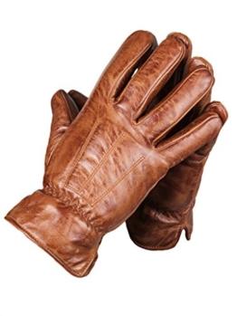 Echte Herren Schafsleder Handschuhe, Lederhandschuhe von lines by cris d. fedd, Tender Being Glovy, Grš§e L, sienna cognac -