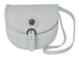 Elegante Echt Leder Trachtentasche mit Fleur des Lys oder Edelweiss fürs Dirndl - Rindsleder (Edelweiss weiß) -
