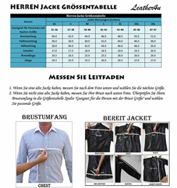 Exemplar KC747 3XL Men's Jacke schwarz Rindsleder leder Herren Lederjacke, Schwarz -