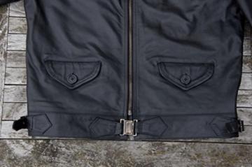 Fliegerjacke Hartmann schwarz Pferdeleder (XL) -