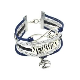 Frauen New York Stil Rindsleder Leder Armband Sympathisch Ball Anhänger Liebe Unendlichkeit Armband -