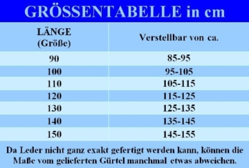 Gr. 90-150cm Trachtengürtel Trachten-Gürtel f. Lederhose Ledergürtel Hirsch Jagd, Größe/Länge:110 -