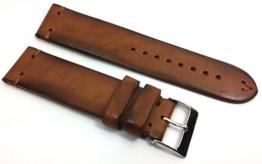 Herzog Uhrenarmband, 22mm, VINTAGE LIMITED, weiches, handgenähtes Pferdeleder Premium Uhrband, Farbe: crema, mit Edelstahl Dornschließe. -