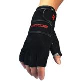 kungken Gewicht heben Handschuhe mit Schweinsleder Palmen und Handgelenk Wrap unterstützen für Fitnessstudio, Training, Crossfit, Fitness, Kettlebell, WOD, Kreuz Training Größe L schwarz -
