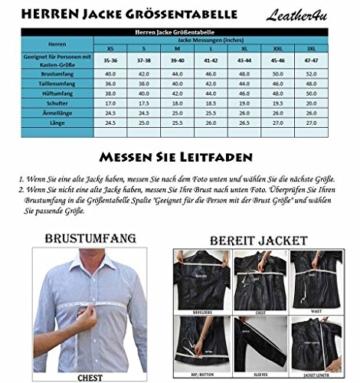Leather4u KC305 M Herren Lederjacke, Rindsleder , Schwarz -