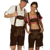 Lederhose Damen, kurze Trachtenhose, Echtleder, braun, fürs Oktoberfest - 40 -