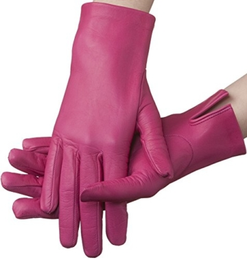 Lundorf Linea – Leder Damen Handschuh – mit Kaschmirfutter. Aus Lammleder in bunter Farbenvielfalt - Pflaume - 7,5 - Large -