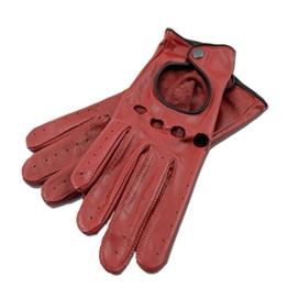 MOGENSEN Lyngby Damen Handschuhe Leder Cabrio (M, rot) -
