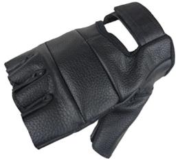 Motorrad Handschuhe Fingerling aus weichem Rindsleder Schwarz S -