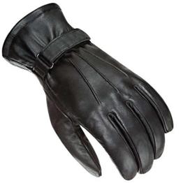 Newfacelook Herren Motorrad Handschuhe Leder Mode Bildschirm Berühren Kompatibel L -