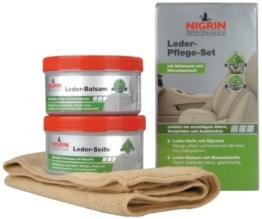 Nigrin 73170 Performance Leder-Pflege-Set Seife mit Balsam -