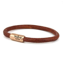 "Paper-Ship Armband ""Santos I"" - Naturbraunes Leder mit Magnetverschluss (17) -"