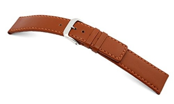 RIOS1931 Uhrenarmband Echt Lamm Cognac Bandanstoss 18 mm -