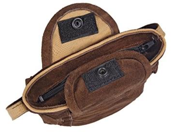 Trachten-Handtasche aus Echtleder, 15cm, braun -