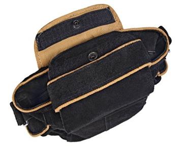 Trachten-Handtasche aus Echtleder, 20cm, schwarz -