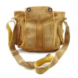 Trachtentasche Dirndltasche Lederhosen-Tasche als Umhängetasche Leder Braun -