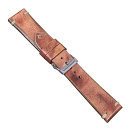 """Uhrbanddealer 22mm Ersatzband Uhrenarmband """"Vintage Edition"""" Rindsleder Band Vintage Style Hand Made used look Rost - Braun -"""