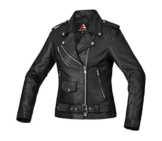 Wertige BOHMBERG Damen-Lederjacke 100% Echtleder- Retro Biker Jacke - Highwayjacke - Brandostyle (S) -