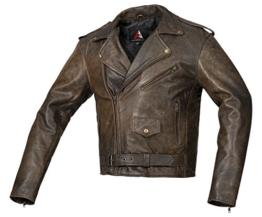 Wertige BOHMBERG Lederjacke 100% Echtleder- Retro Biker Jacke - Highwayjacke - Brandostyle (XXL) -