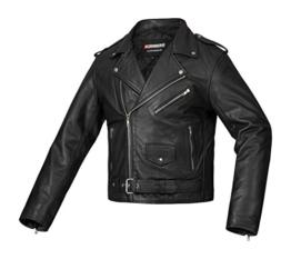 Wertige BOHMBERG Lederjacke aus Rindsleder – 100% Echtleder- Retro Biker Jacke - Highwayjacke - Chopper Jacke-Brando-Oldschool-Rockabilly, Gr. XXL -