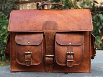 classydesigns Umhängetasche aus echtem Büffel-Leder im Vintage Look -