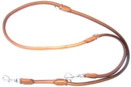 """Heim 3874107 Hundeleine """"Elk"""" aus echtem Elchleder, 10 mm Durchmesser, 200 cm  lang, cognac -"""