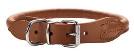 Hunter 41657 Halsband Round und Soft Elk, Elchleder, 40/8, cognac -