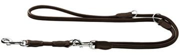 Hunter 61681 Verstellbare Führleine Round und Soft Elk, Elchleder, 10/200, mokka -