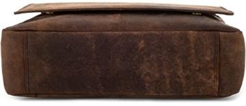 LEABAGS Oxford Umhängetasche aus echtem Büffel-Leder im Vintage Look - Muskat -