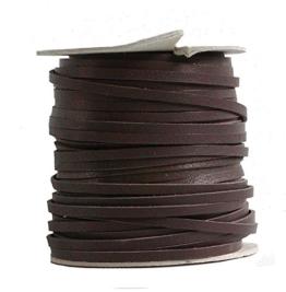 Lederflechtband Känguruleder braun, Länge 50 m, Breite ca. 4 mm, Stärke ca. 1,3 mm -